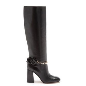 TORY BURCH Blossom Knee High Tall Leather Boot NEW